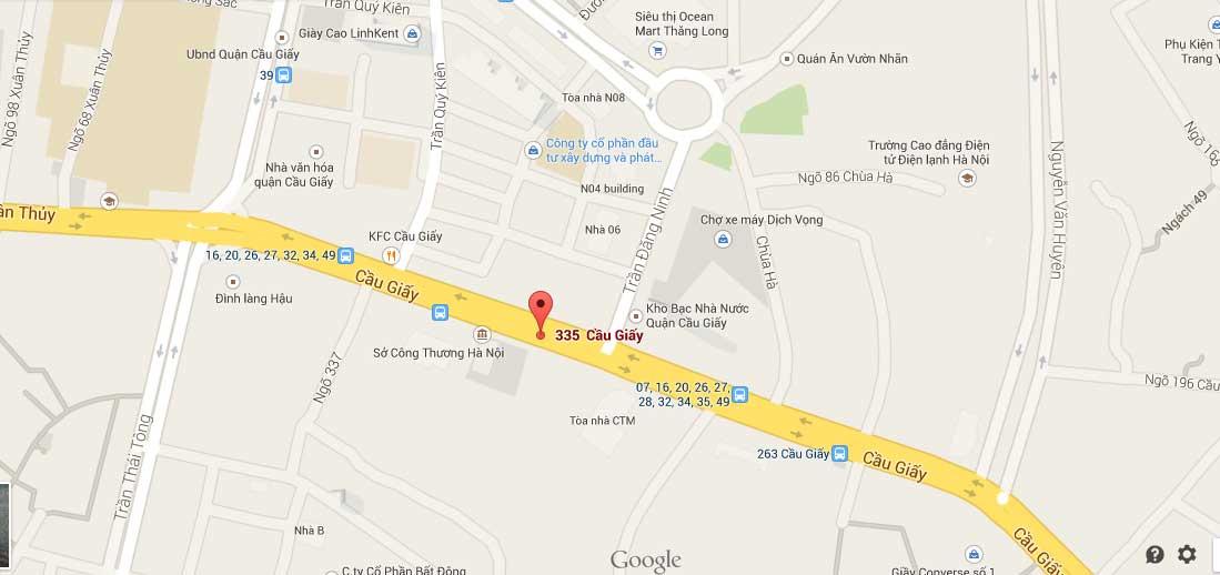 Bản đồ trung tâm Đức Minh chi nhánh Cầu Giấy