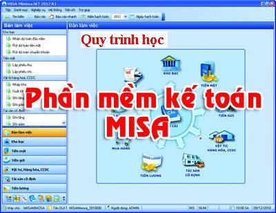 Lớp học phần mềm kế toán misa